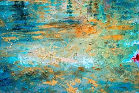 Foto de abstract oil paint texture on canvas - Imagen libre de derechos