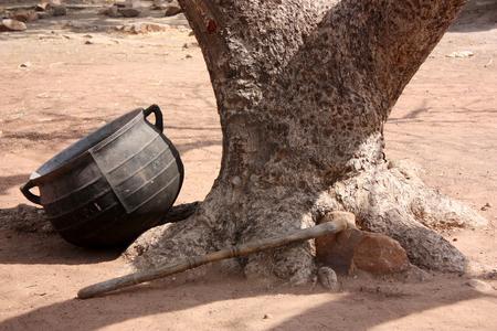 Photo pour African village - image libre de droit