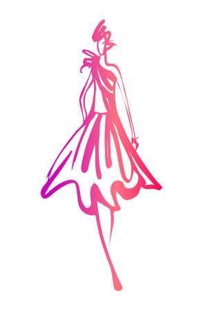 Ilustración de Fashion woman sketch - Imagen libre de derechos
