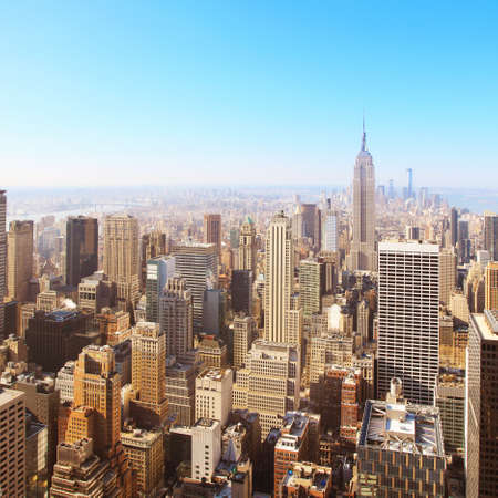 Photo for Image of New York city Aerial view  - Royalty Free Image