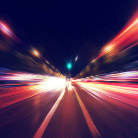 Photo for Abstract image of night traffic in the city  - Royalty Free Image