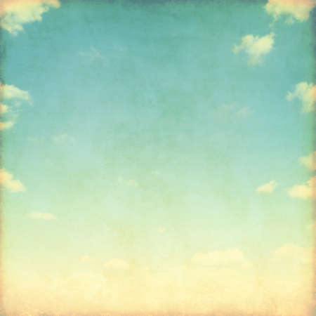 Photo for Blue sky with white clouds in grunge style. - Royalty Free Image