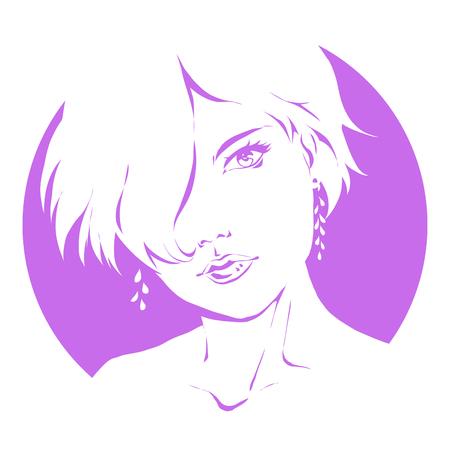 Illustration pour Sample logo for a beauty salon, beauty products, cosmetics line etc - image libre de droit