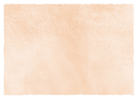 Photo pour Natural, rose beige watercolor background with stains and rough, uneven edges. Human skin, foundation color painted watercolor texture. Pastel, soft brown aquarelle template for banners, posters. - image libre de droit