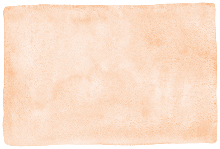 Photo pour Rose beige, natural watercolor texture with stains and rounded, uneven edges. Pastel, light brown aquarelle template for banners, posters. Human skin, foundation color painted watercolor background. - image libre de droit