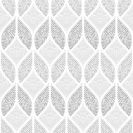 Illustration pour Abstract geometric pattern of the points, lines. A seamless vector background. Graphic grey and white pattern. - image libre de droit