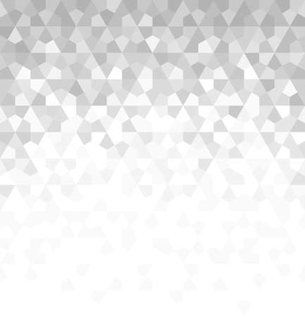 Illustration pour Abstract geometric pattern with rhombuses. Vector background. White and grey ornament. Graphic modern pattern. - image libre de droit