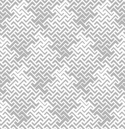 Illustration pour Abstract geometric pattern with stripes, lines. A seamless vector background. White and grey ornament. - image libre de droit
