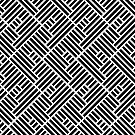 Illustration pour Abstract geometric pattern with stripes, lines. A seamless vector background. White and black ornament - image libre de droit