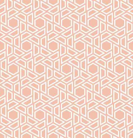 Ilustración de Abstract geometric pattern. A seamless vector background. White and pink ornament. Graphic modern pattern - Imagen libre de derechos
