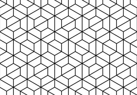 Illustration for The geometric pattern with lines . Seamless vector background. White and black texture. Graphic modern pattern - Royalty Free Image