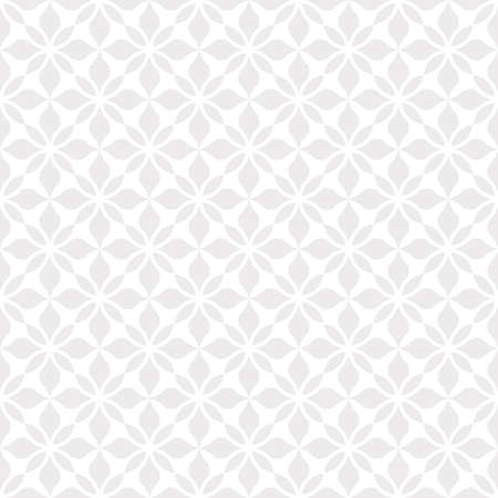 Photo for Flower geometric pattern. Seamless background. White and grey ornament. - Royalty Free Image
