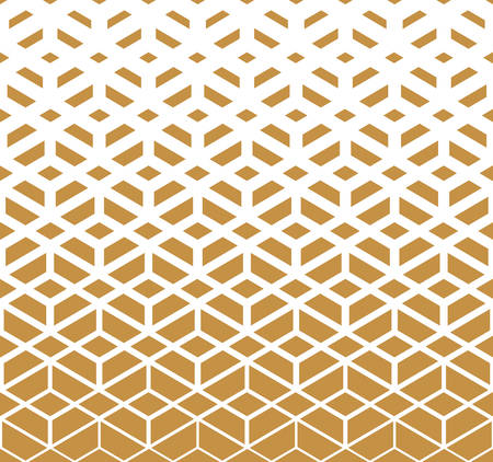 Illustration pour Abstract geometric pattern. Vector background. White and gold halftone. Graphic modern pattern. Simple lattice graphic design - image libre de droit