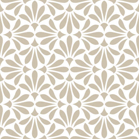 Photo for Flower geometric pattern. Seamless background. White and beige ornament - Royalty Free Image