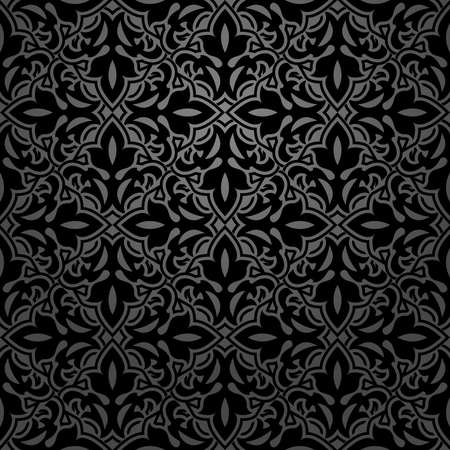 Photo for Flower geometric pattern. Seamless background. Black ornament. Ornament for fabric, wallpaper, packaging. Decorative print - Royalty Free Image
