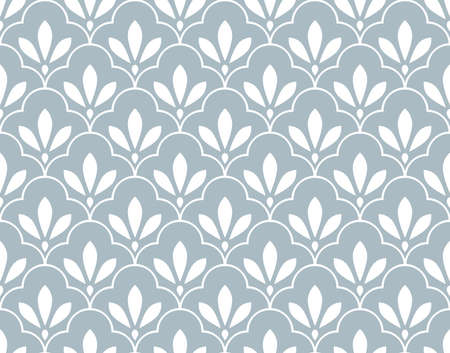Photo for Flower geometric pattern. Seamless background. White and blue ornament. Ornament for fabric, wallpaper, packaging. Decorative print - Royalty Free Image