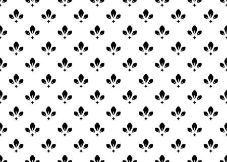 Illustration for Flower geometric pattern. Seamless vector background. White and black ornament. Ornament for fabric, wallpaper, packaging. Decorative print - Royalty Free Image