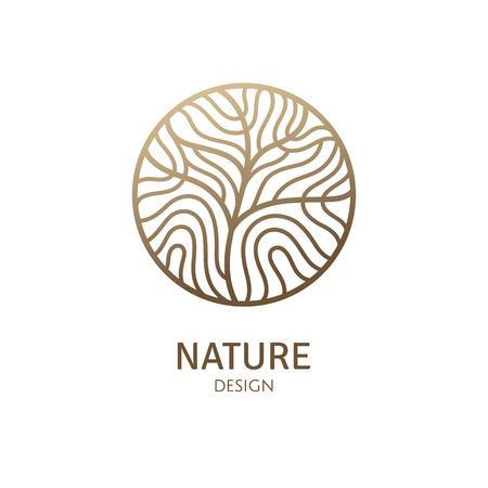 Illustration for Round pattern logo of tree - Royalty Free Image