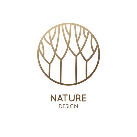 Ilustración de Garden round emblem - Imagen libre de derechos