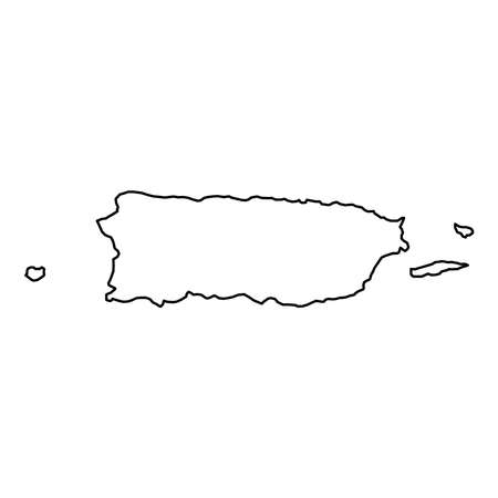 Illustration for Puerto Rico map icon. - Royalty Free Image