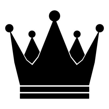 Illustration for Crown Royal Imperial icon schematic from black silhouette icon on white background. Vector illustration. - Royalty Free Image