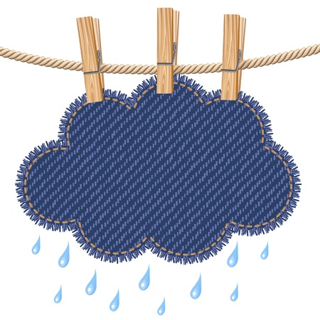 Rain cloud on a clothesline