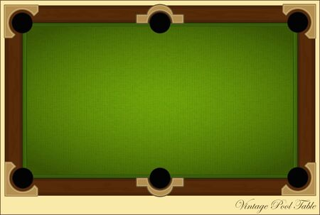 retro billiards card - Vintage Pool Table with place for text