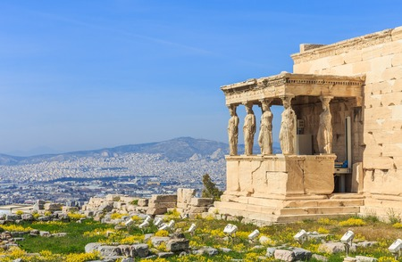 Photo for ruins of ancient temple on Acropolis hill - Royalty Free Image