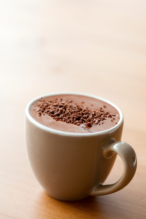 Photo for Close-up of delicious hot chocolate with chocolate sprinkles - Royalty Free Image