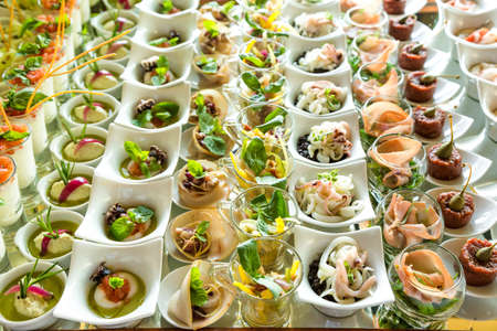 Photo pour variety Appetizers and finger food - image libre de droit