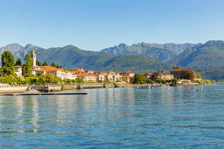 Foto per Baveno little town near at Stresa, on Lake Maggiore, Italy. - Immagine Royalty Free