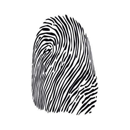 Illustration pour fingerprint vector - image libre de droit