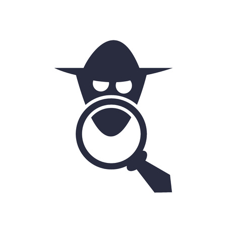 Illustrazione per Spy icon vector isolated on white background for your web and mobile app design, Spy logo concept - Immagini Royalty Free