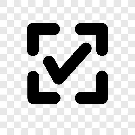 Illustration pour Confirm vector icon isolated on transparent background, Confirm transparency logo concept - image libre de droit
