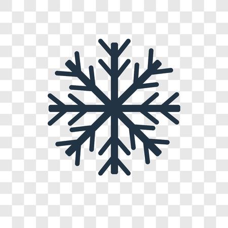 Illustration pour Snowflake vector icon isolated on transparent background, Snowflake transparency logo concept - image libre de droit