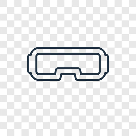 Illustration pour Vr glasses concept vector linear icon isolated on transparent background, Vr glasses concept transparency concept in outline style - image libre de droit