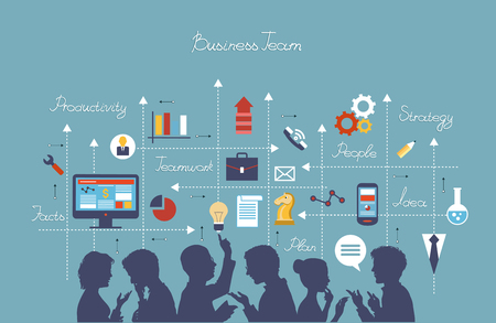 Illustration for Business people group over conceptual.  - Royalty Free Image