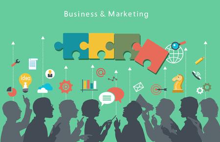 Illustration pour Business people group over conceptual.  - image libre de droit