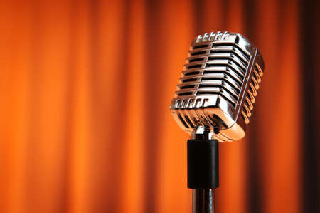 Photo for Audio microphone against the background - Royalty Free Image