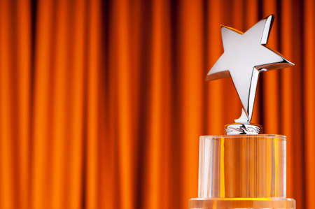 Foto de Star award against curtain background - Imagen libre de derechos