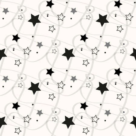 Illustration pour Stars Seamless Pattern. The vector image. Starry night sky eps10 - image libre de droit