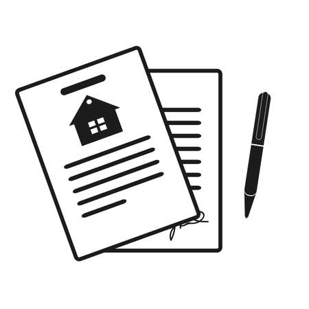 Illustration pour Lease Contract Icon. Professional, pixel perfect icons optimized for both large and small resolutions. EPS10 format. - image libre de droit