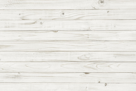 Foto de Vintage white wooden table top view. wood background - Imagen libre de derechos