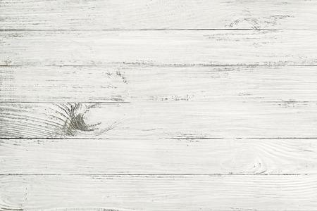 Foto de Vintage white wooden table top view. wood background - Imagen libre de derechos