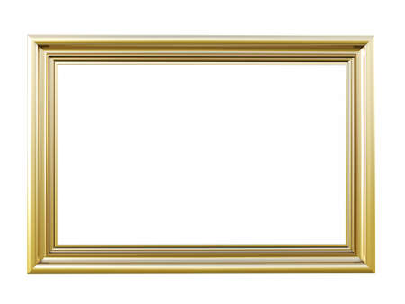 Photo pour Vintage picture frame isolated on white background - image libre de droit