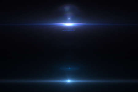 Foto per Lens flare effect in space 3D render - Immagine Royalty Free