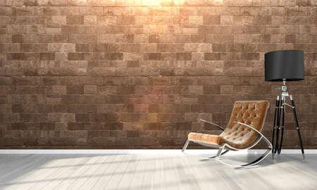 Foto de Bright interior in a modern style . 3D render - Imagen libre de derechos