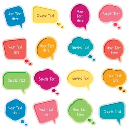 Illustration pour bubble message set - image libre de droit