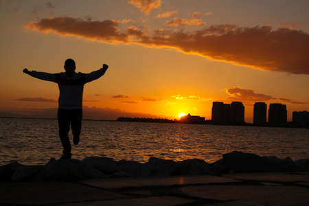 ""\ """"Zeybek """" dance in Izmir / Sunset in Izmir / Turkish traditional dance / folklore from Turkey / Sunset dance. Silhouette of people by the sea at sunset""450|300|?|en|2|6c99d0566d6b221202e6b1cb61733850|False|UNLIKELY|0.2886587679386139