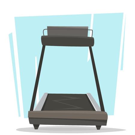 Ilustración de Running treadmill in gym. - Imagen libre de derechos